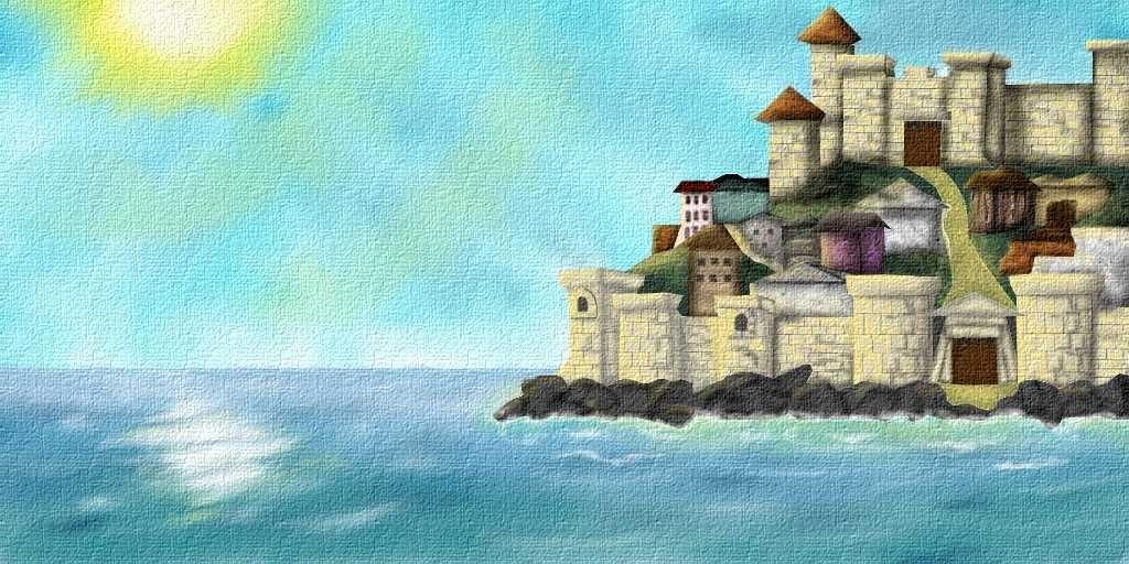 Illustration 8 Color The Rock (Tyre city on the island)